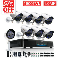 ELEC 8CH 1080P CCTV DVR 1800TVL 960H IR-CUT Night Vision Security Camera System