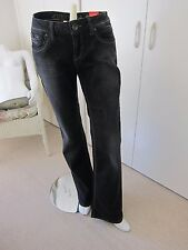 Esprit Jeans Smart 29/32 Long Bootcut Stretch Black Denim Jeans Straight Fit £54