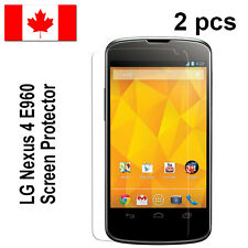 Two (2) Clear screen protectors for LG Nexus 4 E960 Free Shipping