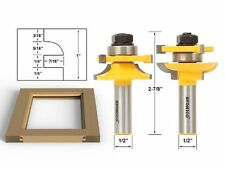Yonico 12238 Rail and Stile Router Bits with Matched 2 Bit Quarter-round 1/2-Inc