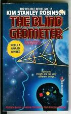 THE BLIND GEOMETER & NEW ATLANTIS, rare US Tor Double #13 sci-fi pulp vintage pb