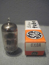 1 GE General Electric 6X8A Electron Vacuum Radio TV Tube NOS