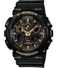 Casio G-Shock * GA100CF-1A9 Camo Face XL Black Gold Ivanandsophia COD PayPal
