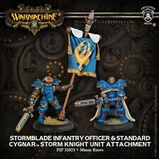 Warmachine: Cygnar Stormblade Infantry Officer and Knight Unit Attachment 31023
