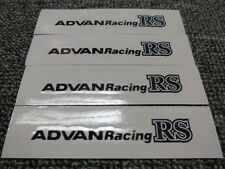 JDM Brand New 4pc Sticker Decals 17-19 inch Rims Wheels Advan Racing RS ~Black