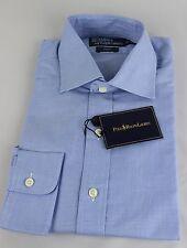 Ralph Lauren Polo Regent Dress Shirt Mens 17 43 Blue White Navy Pony New