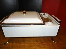 """Mid Century* Anchor Hocking Fire King *8"""" Chafing Dish Candle Warmer w/ Lid"""