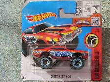 Hot Wheels 2016 #161/250 Olds 442 W-30 Rojo Monster Truck HW Daredevils caso J