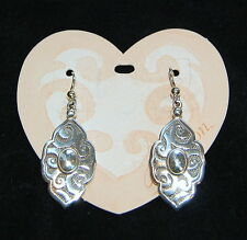 NWT, detailed silver BRIGHTON French wire earrings ANDALUZ with FREE SHIPPING !!