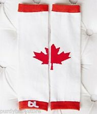 Baby Leggings Leg Warmers Canada Maple Leaf Cotton Blend Boys Girls Toddler Red