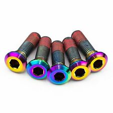 5x Kawasaki Ninja ZX9R 94-97 Rainbow Titanium Rear Disc Rotor Bolts Threadlock