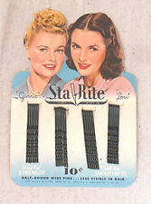 Vintage Sta Rite Bobby Pins with Ginnie & Lou MOC