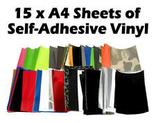 15x A4 Sheets Random Carbon Gloss Matt Mirror Chrome Camo Vinyl Wrap Crafting