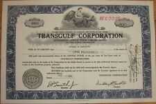 1949 Oil Stock Certificate: 'Transgulf Corporation' - Hasbrouck, Thistle & Co.