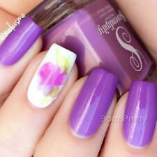 1 Sheet Chinese Ink Flower Nail Art Sticker Beautiful Water Transfer Decals Tips