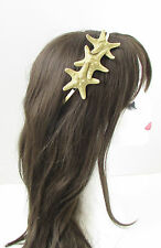 Gold Starfish Headband Beach Headpiece Hair Crown Little Mermaid Ariel Boho 258