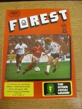 06/01/1985 Nottingham Forest v Newcastle United [FA Cup] . Condition: We aspire