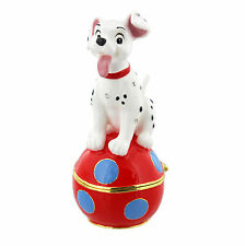 Disney Dalmation Puppy Hinged Metal Die Cast Trinket Box Figurine 10cm DI343