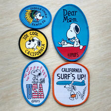 Peanut Snoopy chief surf's up USA Music Sew On Patch Clothing Accessories