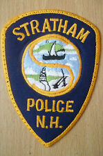 Patches: STRATHAM N.H. New Hampshire POLICE PATCH (NEW* apx.11x8.5cm)