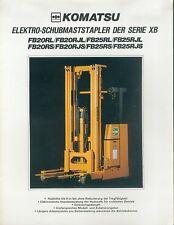 Komatsu Elektro-Schubmaststapler XB Prospekt 2 83 brochure forklift 1983 Japan