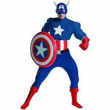 MARVEL CAPTAIN AMERICA RENTAL QUALITY ADULT COSTUME XL 42-46 HALLOWEEN
