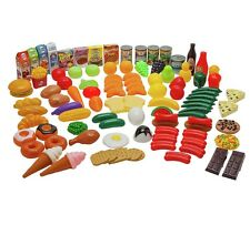 Play Food Set 104 Piece Kids Childrens Creative Educational School Toys Plastic