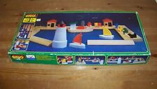 Vintage BRIO Wooden Train Harbor Dock Set 33210 Cargo Tug Sail Boat Lighthouse