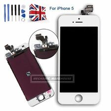For iPhone 5 Retina LCD Digitizer Touch Screen Display Glass White Assembly UK