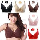 Women Super Boost Push Up Bra Lace Side Support Plunge Underwired Bra CD Cup