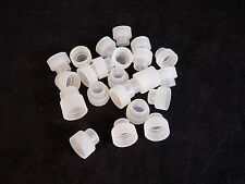 Set of 22 plastic 9mm laboratory tube pug caps clear poly vial tops