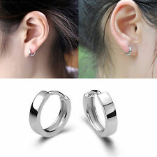 Hot Women Fashion Jewelry 925 Sterling Silver Very Small Stud Hoop Earrings