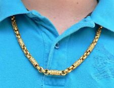 Incredible Heavy Mens 24k Gold Necklace 26 Inch 131.6 g