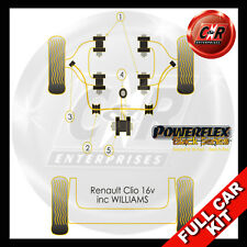 Renault Clio Williams Powerflex Black Complete Bush Kit