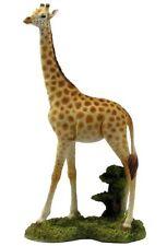 """10.75"""" Giraffe Statue Sculpture Figure Wild Animal Figurine Safari Decor"""