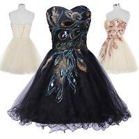 Ballkleider Abendkleid kurz Hochzeit Kleid Cocktailkleid Partykleid 34 36 38 40+