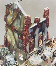 Verlinden 1/35 City House Ruin Section [Plaster Diorama Model kit] 100