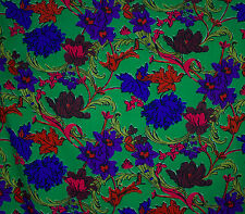 Liberty of London large floral & scrolls print varuna wool fabric
