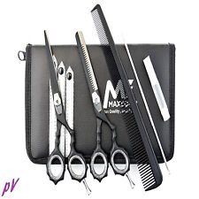 Hairdressing Scissors Barber Salon Thinning SET KIT MATT BLACK Exclusive 5.5""