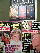 Lot of 3 - STAR, NATIONAL ENQUIRER & GLOBE - Special Memorial Issues Princess Di