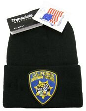 California Highway Patrol Patch Knit Cap - 40g Thinsulate Insulation - Black