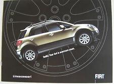 FIAT SEDICI 2006 gamma LINEACCESSORI AUTO BROCHURE. accessori PORTAPACCHI ecc.