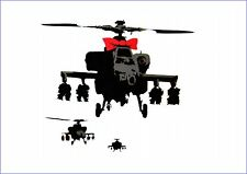BANKSY Helicóptero Con Arco Vinilo Pared, Auto, van Decal Sticker