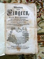 1757 FINGERS PALMISTRY Study of Each FINGER of the HAND 257 Year-Old German Book