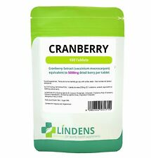 Cranberry 5000mg tablets healthy bladder and urinary tract Lindens Pack 100