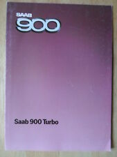 SAAB 900 Turbo orig 1984 UK Mkt sales brochure