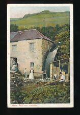 Devon HELE Corn Mill near Ilfracombe + workers & water wheel Used 1905 PPC
