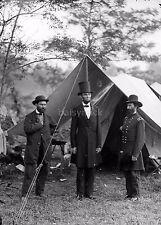 Allan Pinkerton President Abraham Lincoln Maj Gen John A McClemand 7x5 Photo Rep