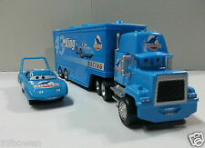 Disney Pixar Car No.43 the King Car & Mack Racer's Hauler Truck 1:55 Loose New