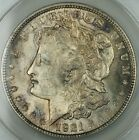 1921 Silver Morgan Dollar Coin, ANACS MS-63 INFREQ REEDED TOP 100, Toned, JT